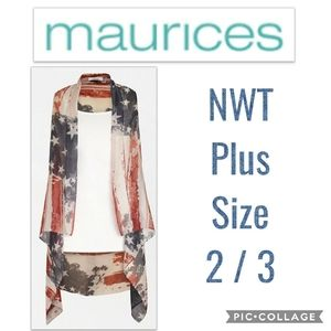 NWT Maurices American Vest Plus Size 2 3